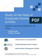Evolution of Corporate Governance in India