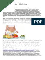 Dietas Para Adelgazar Y Bajar De Peso