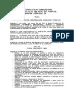 Estatutos Del Sindicato de Trabajadores Asistenciales del Perú-SITAP-H.V.L.H