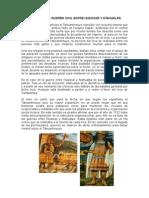 Causas de La Guerra Civil Entre Huascar y Atahualpa