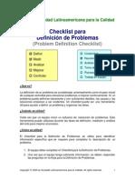 3.0 Check List Para Defnición de Problemas