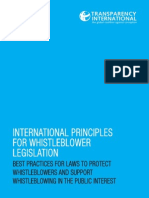 International Principles for Whistleblower Legislation