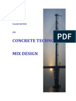 Class Note Concrete Mix Design