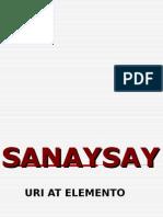 Uri at Elemento Ng Sanaysay