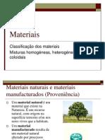 Materiais - Classificação de materiais