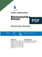 Modul Matematika Dasar [TM7]