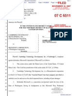 Cambridge Technology Development, Inc. v. Microsoft Corporation - Document No. 1