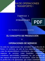 OPERACIONES DEL SISTEMA CAPITULO 1 - INGENIERÍA DE TRANSPORTES