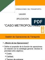 Operaciones EN EL SISTEMA CAPITULO 4 - INGENIERA DE TRANSPORTES