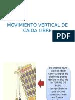 Caida Libre - FISICA - INGENIERÍA DE TRANSPORTES