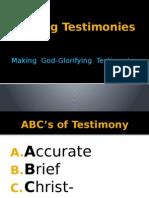 Giving Testimonies