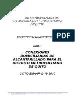 Alcantarillado Conexiones Coto 19