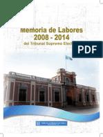 Memoria Tribunal Supremo Electoral de Guatemala 2008-2014