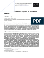 Genetic and Hereditary Aspects of Childhood Obesity1318