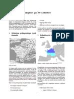 Langues Gallo Romanes