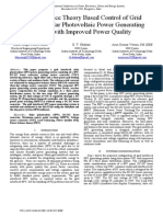 Power Balance Theory Based Control of Grid Interfaced Solar Photovoltaic Power Generating System with Improved Power Quality
