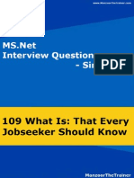 Ms.net Interview Questions - New