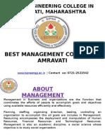Best Management College in Amravati