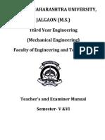 2014-15 TE Mechanical Teacher and Examiners Manual ( CGPA)