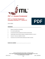 Examen Blanc 02 - ITIL V3 Foundation