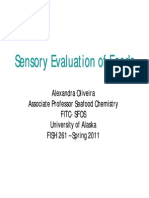 Sensory Evaluation of Food Tutorial 2