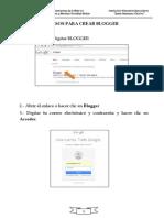 Pasos Para Crear Blogger