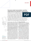 Genome-Wide Transcription and the Implicaitons for Genomic Organization - KapranovWillinghamGingeras-NRG