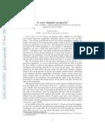 PHY - A Very Singular Property - 0911.5259v1