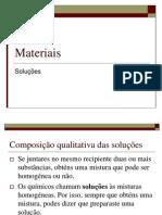 Materiais - Soluções