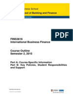 FINS3616 International Business Finance S22015