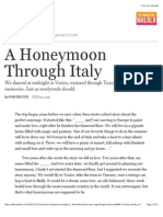 A Honeymoon Through Italy - The New York Times