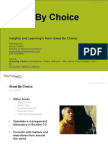 Book Review Great by Choice