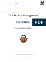 ITIL Foundation Pre Reading Notes 2013 v A1.1
