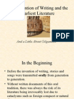 The Invention of Writing and the Earliest Literature