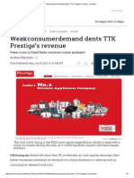 Weak Consumer Demand Dents TTK Prestige's Revenue - Livemint