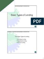 Basic Types of Lending