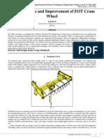 Design Analysis and Improvement of EOT Crane Wheel