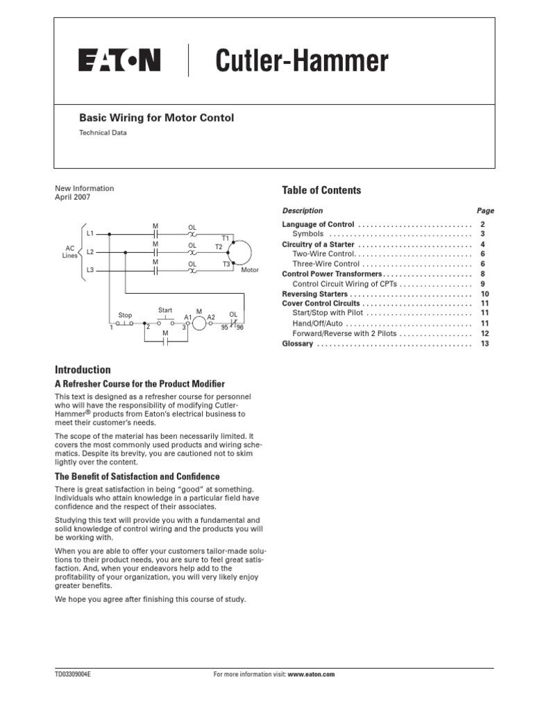 Motor Control Basic Wiring Transformer Relay Machine Diagram In Addition Dol Starter