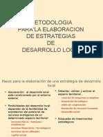 Metodologia Para La Elaboracion de Estrategias de Desarrollo Local