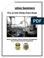 Childs Point Road Fire Report