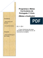 Programas e Metas Curriculares de Português 1º Ciclo