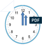 mini clock preschool project