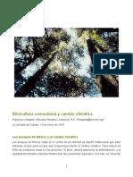 Silvicultura Comunitaria y Cambio Climático