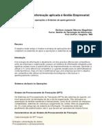 Tecnologia Da Informação Aplicada à Gestão Empresarial TRABALHO EMILSON
