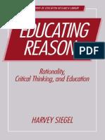 Educating Reason. Harvey Siegel