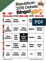 GOP Debate Bingo Cards