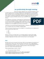 Training for Productivity