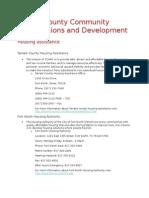 tarrant county community development and organizations