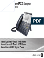 ENT PHONES IPTouch-4038-4068-4039Digital-OXEnterprise Manual 0907 CA
