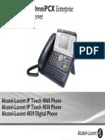 ENT PHONES IPTouch-4038-4068-4039Digital-OXEnterprise Manual 0907 CA